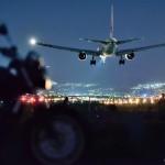 夜の飛行機に魅せられて・・・